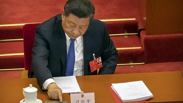 الرئيس الصيني تشي جين بينغ في بكين