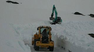 Schneeräumfahrzeuge in Norwegen