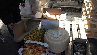 Alijo de quesos europeos en Rusia