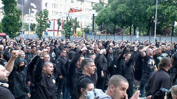 Акция протеста в Будапеште 29 мая 2020