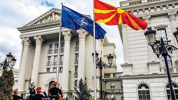 NATO - NORTH MACEDONIA FLAGS