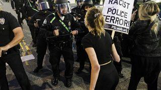 Manifestation à Los Angeles contre les violences policières, le 29/05/2020