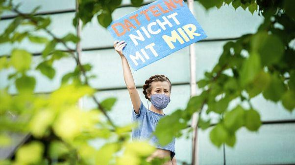 Protest gegen umstrittenes Kohlekraftwerk Datteln 4
