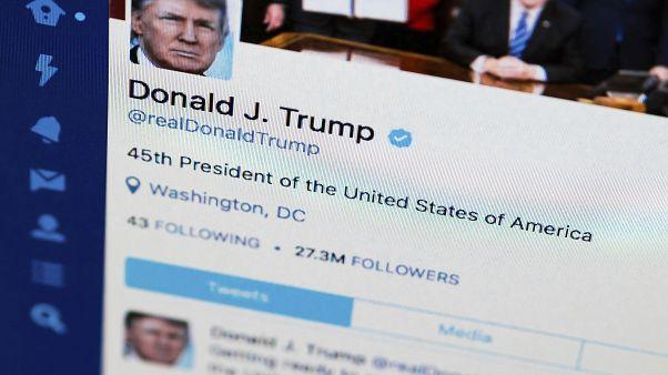 صورة لحساب الرئيس الأمريكي دونالد ترامب علر تويتر