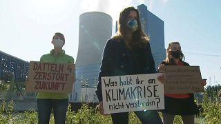 Protestas ecologistas por la apertura de una central eléctrica de carbón en Alemania
