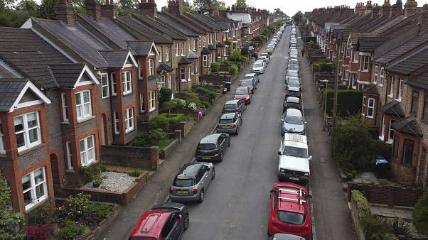 Shrublands Avenue which as many other streets in Britain has been on lockdown due to Coronavirus in Berkhamsted, England, Monday, May 4, 2020.