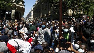 تظاهرات مهاجران در پاریس