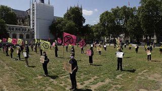 Акция протеста против политики правительства в борьбе с пандемией в Лондоне