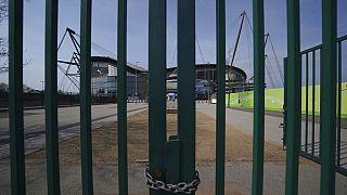 A Manchester City bezárt labdarúgó-stadionja 2020. április 9-én