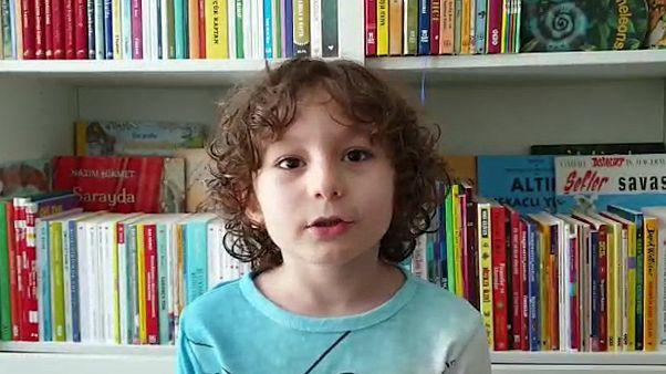 7 yaşındaki gazeteci Eren Güleç