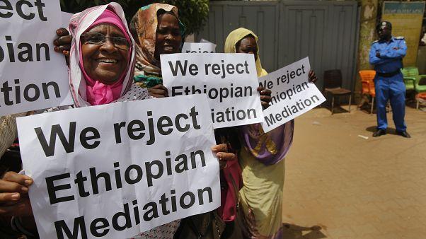 مظاهرات رافضة للتقارب السزداني الإثيوبي في 2019/ أرشيف