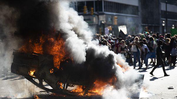 Unruhen nach Polizeigewalt in Minneapolis: 5. Protestnacht