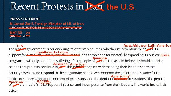İran Dışişleri Bakanı Zarif, ABD'li mevkidaşının mektubunu değiştirdi