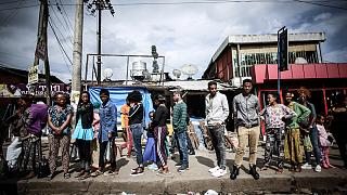 The densely-populated Mebrat Hail suburb of Addis Ababa, Ethiopia, is home to many Eritreans who arrived after the two countries signed a peace deal in 2018