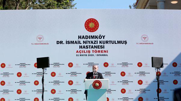 Cumhurbaşkanı Recep Tayyip Erdoğan, Hadımköy Dr. İsmail Niyazi Kurtulmuş Hastanesi açılış töreninde