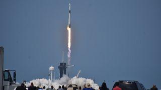 'Crew Dragon' adlı uzay mekiğinin fırlatılış anı