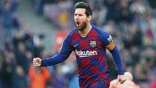 مهاجم نادي برشلونة الإسباني ليونيل ميسي