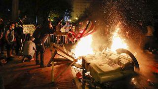 Protestas cerca de la Casa Blanca, en Washington, Estados Unidos