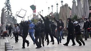 صورة أرشيفية لاحتجاجات في اليونان عام 2008
