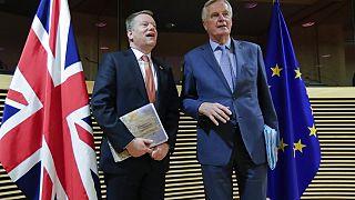David Frost e Michel Barnier