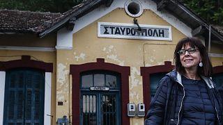 Η Πρόεδρος της Ελληνικής Δημοκρατίας κατά την επίσκεψη της στην Θράκη