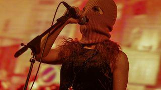 Pussy Riot-Mitglied Maria Alyokhina beim Uncensored Festival in Sao Paulo, Brasilien, am 30. Januar 2020