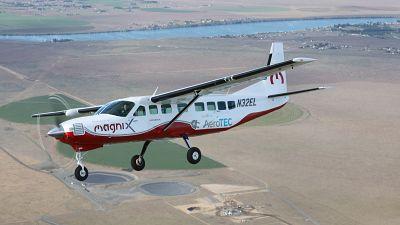 eCaravan electric aircraft, developed by Magnix