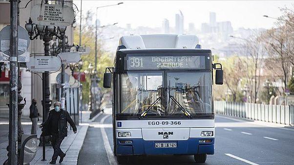 Ankara'da bir belediye otobüsü