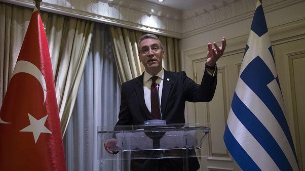 Türkiye'nin Atina Büyükelçisi Burak Özügergin 29 Ekim Cumhuriyet Bayramı resepsiyonunda konuşuyor