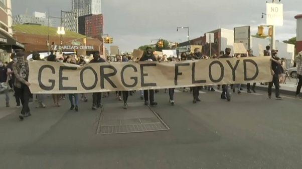 Manifestação em Brooklyn