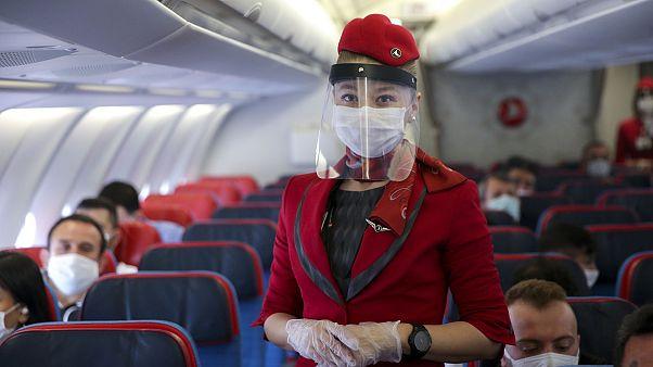 Türk Hava Yolları 59 günlük aranın ardından yeniden seferlere başladı
