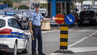 Border crossing in Plovanija, Croatia