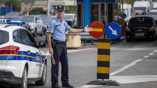 Border crossing in Plovanija, Croatia