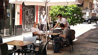 Terraza de un bar en Valencia
