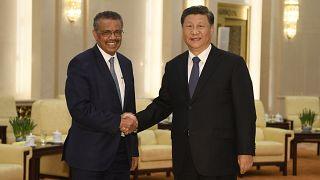 الرئيس الصيني ومدير منظمة الصحة العالمية
