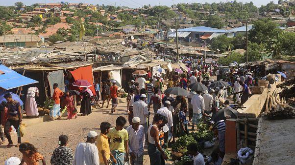 Bangladeş'teki Kutupalong Rohingya mülteci kampı