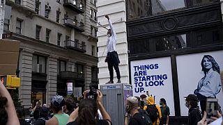 Manifestation à New York pour George Floyd