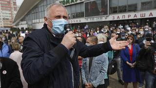 Opposition activist Nikolai Statkevich at an event to support potential presidential candidates in the upcoming presidential elections. Minsk, May 24, 2020