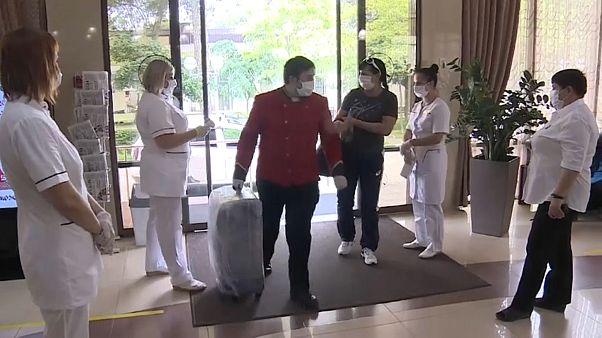 В санатории принимают первых отдыхающих.
