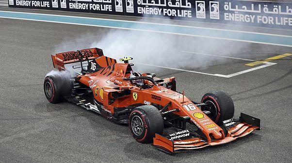 Ferrari car in the circuit.
