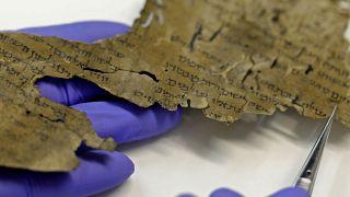 احدى المخطوطات المكتشفة