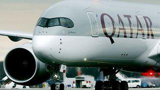 طائرة تابعة للخطوط الجوبة القطرية