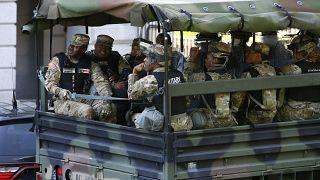 Columbia Bölgesi Ulusal Muhafız Birliği'ne bağlı askerler