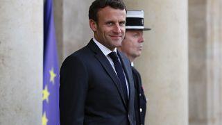 الرئيس الفرنسي في قصر الاليزيه