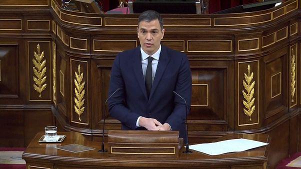 El presidente del Gobierno español, Pedro Sánchez, en el Congreso de los Diputados