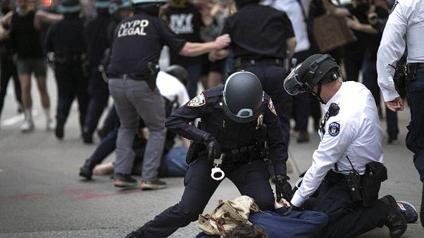 Tüntetés New Yorkban