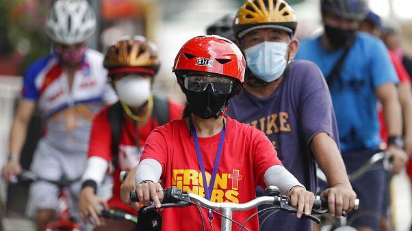 شاهد: الفلبين تحتفل باليوم العالمي للدراجات الهوائية بمرافق جديدة