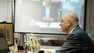 τριμερή τηλεδιάσκεψη υπουργών Εξωτερικών Ελλάδας, Κύπρου και Ιορδανίας