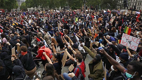 Black Lives Matter szimpátiatüntetés Londonban, Parliament Square