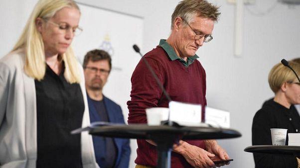 L'epidemiologo di Stato, Anders Tegnell, durante una conferenza stampa sul coronavirus a Stoccolma, Svezia